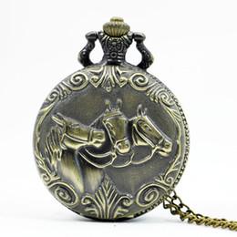 $enCountryForm.capitalKeyWord Australia - Bronze Chinese Zodiac Quartz Pocket Watch Necklace Dog Pooch Tiger Horse Cow Mouse Rabbit Watch Mens Retro Pendant With Chain