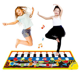Wholesale 110x36cm Piano Mats Music Carpets Children Touch Play Mat with Instrument Sound Musical Mat Rug Music Learning Toys for Kids