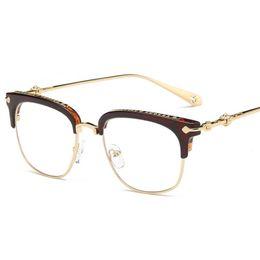 3799b528307 Vintage Metal Frames Retro Goggles Frames Glasses Women Men Transparent  Optical Myopic Spectacle Eye Glasses Frame LJJS175