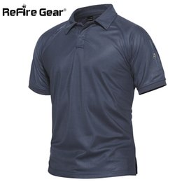 $enCountryForm.capitalKeyWord NZ - Refire Gear Men Military Polo Shirt Breathable Army Combat Tactical Polo Male Navy Blue Quick Dry Short Sleeve Polo Shirts S-5xl Q190426