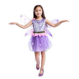 vocaloid girl cosplay 2020 - 2019 Hot Sale Wonderful Girl Purple Butterfly Fairy Dress Kids Halloween Party Costume Vocaloid Cosplay Party Clothes fo