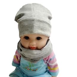 Scarfs Cotton Australia - High Quality Baby Scarf Hat Set Cotton Kids Boys Girls Baby Winter spring Warm Crochet Knit Hat Beanie Scarf Set accessories