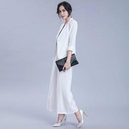 $enCountryForm.capitalKeyWord Australia - High quality 2019 new office lady suit + wide leg pants bamboo fiber two-piece