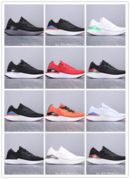 SneakerS online online shopping - Factory Online unisex React Running Shoes Fashion Fly knit Mens Sports Trainers Triple Black Dark womens Designer Sneakers