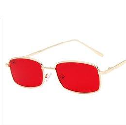 $enCountryForm.capitalKeyWord UK - Wholesale-11 Colors Rectangle Sunglasses Fashion Sunglasses for Men Women AC Lens Metal Frame Glass Lens 51mm Original Case Box Hot Sale