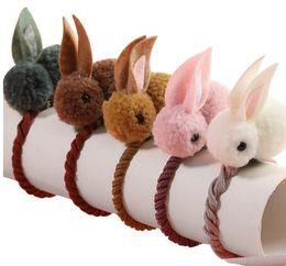 Felt Hair Children Australia - Cute Animals Rabbit Style Hair Bands Felt Three-Dimensional Plush Rabbit Ears Headband For Children Girls Hair Accessories
