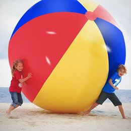 Kids Summer Pools Inflatables Australia - 200cm 80inch Inflatable Beach Pool Toys Water Ball Summer Sport Play Toy Balloon Outdoors Play In The Water Beach Ball MMA1892