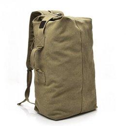 2018 große kapazität rucksack mann reisetasche bergsteigen rucksack männlichen gepäck jungen leinwand eimer umhängetaschen männer rucksäcke # 300937 im Angebot