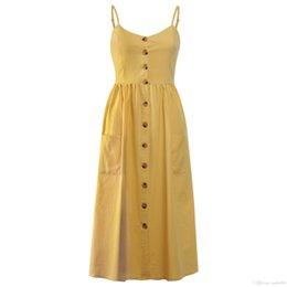 70524e2ac8473 Sleeveless Shirts Cap UK - 2019 summer new explosion dresses best selling  single-breasted dress