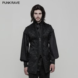 Victorian Coats Australia - Punk Rave Mens Jackets and Coats Waistcoat Open Fork Victorian Gorgeous Retro Goth Fashion Stage Performance Mens Winter Vest