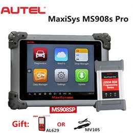 toyota scanner tool NZ - Autel Maxisys MS908S PRO Full System Diagnosis Auto diagnostic tool OBDII scanner with MaxiFlash Elite J-2534 programming upgrade of MS908P