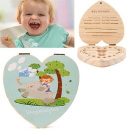 $enCountryForm.capitalKeyWord NZ - Storage Boxes & Bins LOVE Heart English Kids Tooth Box Organizer Owl Elephant Color Paint Baby Save Milk Teeth Wood Storage Box Beft