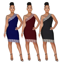 One Shoulder Clothing Australia - Summer Women bodycon Dresses African 3D Printed New Sexy Club One Shoulder Short Evening Party Dress Vestido Plus Size Women Clothing S-3XL