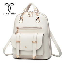 styles backpacks Australia - Women Backpack For School Style Leather Bag For College Simple Design Women Casual Daypacks Mochila Female Famous Brands 18613MX190824