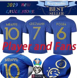 6fb6b801aaf Long short Sleeve PLAYER France 1919-2019 Special Edition Centenary  Football jersey HENRY 100TH GRIEZMANN MBAPPE POGBA Football Sweat shirt