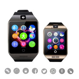 Bluetooth Smart Watch Sim Australia - Bluetooth Smart Watch Q18 Support SIM GSM Camera Facebook Whatsapp Sync SMS MP3 TF Card For IOS Android Phone