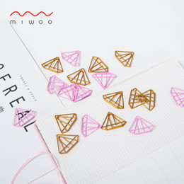 $enCountryForm.capitalKeyWord Australia - cute Stationery Office Supplies Paper clip Bookmark Creative Lovely Small Fresh Diamond Paper Clips Decorative Stationery Clips