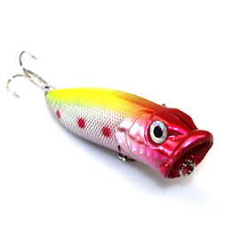 HigH Hard steel online shopping - 1 pc Popper Baits fishing lure Bait Fishing cm g high carbon steel hook fishing equipment Hard plastic New colors