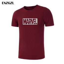 $enCountryForm.capitalKeyWord Australia - 2019 New Marvel T-shirt Men print Cotton t shirt O-neck comic Short Sleeve shirts tops men clothes Tee M-5XL E3933
