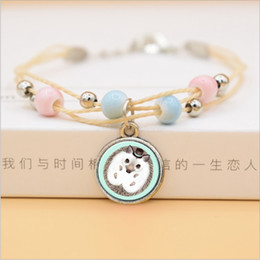 pet dog glasses NZ - Fashion Ceramic Beads Bracelet Cute Kawaii Pet Dog Cat Glass Pendants Bracelets For Girls Women Korean Jewelry 2019