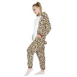 002637c710bd Women s Sleep Lounge Pajama Sets KIGUCOS Leopard Cosplay Costumes Cartoon Flannel  Sleepwear Women Autumn And Winter Warm Pajamas