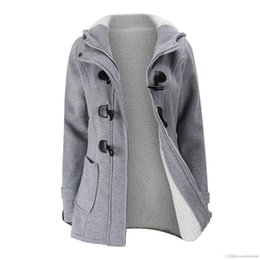 hooded parka overcoat long NZ - Wholesale- Women Clothing Warm Coat Jacket Outwear Winter Hooded Long Parka Overcoat Tops Plush and thicker 2018 New FYW.