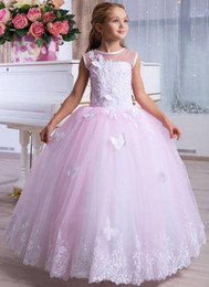 $enCountryForm.capitalKeyWord UK - Lovely Flower Girls Dresses Dubai Style Daughter Toddler Pretty Kids Pageant Formal First Holy Communion Gown For Country Garden Church