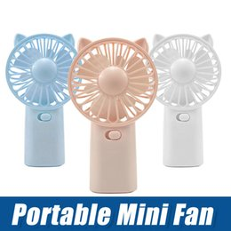 $enCountryForm.capitalKeyWord Australia - Summer mini cooling fan Portable Small Fan Cool Handle Fans Place On Desktop Mini Gadget Charging Electric Handheld Fan Home Office Gifts