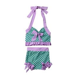 $enCountryForm.capitalKeyWord Australia - Girls Swimwear Summer Ruffle Swimsuit Bikini Set Kids Swimming Costume Beach Bathing Suit Girls Swimsuit Children Bikini Biquini