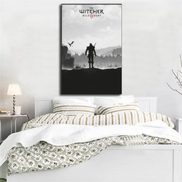 $enCountryForm.capitalKeyWord Australia - The Witcher Wild Hunt Wall Art Canvas Evil Poster And Print Canvas Painting Decorative Picture For Living Room Home Decor
