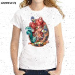 $enCountryForm.capitalKeyWord Australia - 2019 Tatto Princess Design Women T Shirt Short Sleeve Novelty T-shirts Snow White Punk Princess Printed Lady Tops Fashion