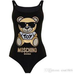 4d225616264 2019 MOSC Small Bear Designer fashion Swimwear Bikini For Women Letter  Swimsuit Bandage Bi quinis Sexy Bathing Suit
