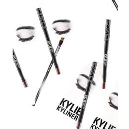 $enCountryForm.capitalKeyWord Australia - Makeup Waterproof brown dark bronze Eyeliner Pencil eye angled brush set Long-lasting Eye-Liner Pen Smooth Fast Dry Eye Cosmetic Tool