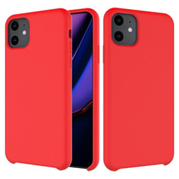 cheap mobile phone covers Canada - Free Shipping 2 MOQ Cheap Liquid Silicone Mobile Phone Cover Case For iPhone 6 7 8 11 Plus X XR XS Max
