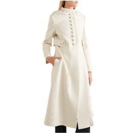 2194cd7093dfb UK 2019 Automne Hiver Femmes Simple look Cachemire Maxi Long Robe Manteau  Femme Laine Mélangée Survêtement Manteau Femme Abrigos Mujer