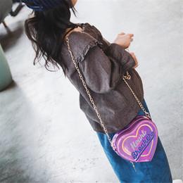 Heart Shaped Handbags Wholesale Australia - bags for women 2019 Children Letter Heart-Shape Handbag Shoulder Bag Mini Messenger Bag bolsa feminina