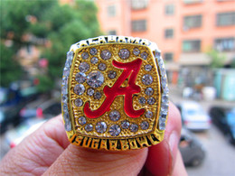 wedding display cases NZ - 2008 Alabama Crimson Tide National Championship Ring SABAN With Wooden Display Case Box Souvenir Men Fan Gift 2019 2020 jewelry
