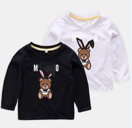 Kids Girls Tee Shirts Australia - Children character bear Print Cut T-shirt Clothing For Kids Autumn Tee Tops Costume Boys shirt Girls Baby cute bear Clothes tops