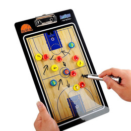 Pen Boards UK - Basketball Tactics Plate Magnetic Teaching Board Tactical Exercises Plate with Pen Clipboard Basketball Supplies #270421