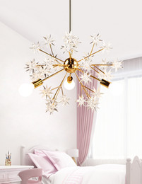 Wholesale creativity arts for sale - Group buy Nordic stylist study dining room counter American country art creativity table spark ball star bedroom chandelier