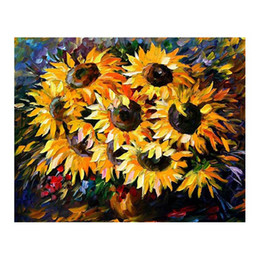 "$enCountryForm.capitalKeyWord Australia - 24""x20"" Restaurant hand-painted oil painting porch hanging painting modern simple European decorative painting sunflower flower still life"