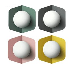 Ceiling lights baCkgrounds online shopping - Thrisdar Nordic Creative E27 LED Wall Lamp Macarons Ceiling Lamp Personality Bedroom Stair Aisle Foyer Background Wall Light