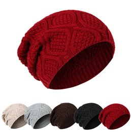 627b6d1603f11 New Unisex Womens Mens Knit Baggy Acrylic Rib Beanie Cable Knitted Hat For  Adults Winter Hip Hop Head Ear Warmer Slouchy Sports Snow Cap