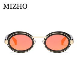 307237eb7692 sunglasses korea brand 2019 - MIZHO White Pink Plastic Oval Sunglasses  Women Brand High Quality UV400