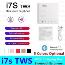 coloured headphones Australia - multiple colour I7 I7S TWS Wireless Bluetooth Headphones Stereo 5.0 Earbud Headset Twins Headset With Charging Box Mic Cheapest