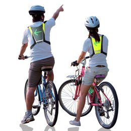reflective vest led UK - LED Wireless Cycling Vest Bike Bag Safety LED Turn Signal Light Vest Bicycle Reflective Warning Vests With Remo Sport Outdoor