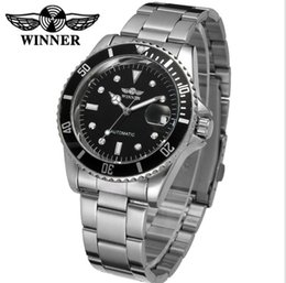 hand watch for men sports Australia - DISCOUNT! 2019 Big Bang Fashion Brand Winner Stainless Steel Self Wind Automatic Mechanical Men Watch For Men sports Wristwatch With Box