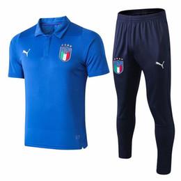 ttt 2018 19 италия футболка поло длинные брюки футбол RONALDO спортивный костюм париж святой чандал футбол комплекты футбольный комплект на Распродаже