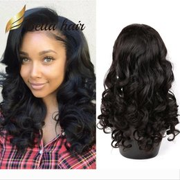 big waves hair curls NZ - Designer Big Curl Human Hair Lace Wig Peruvian Hair Loose Wave Wet and Wavy Fashion Lace