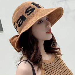 0ba892144dca6 Fisherman hat female summer Korean version of the wild Japanese soft sister  ulzzang leisure travel sunshade sun hat folding straw hat